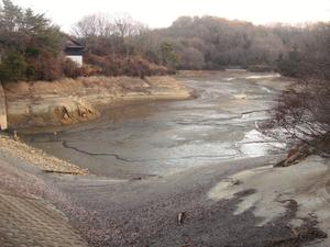 3.白旗池全景(水を抜いた時)